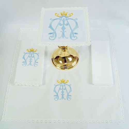 Small Linen - Sacred Monogram of Our Lady