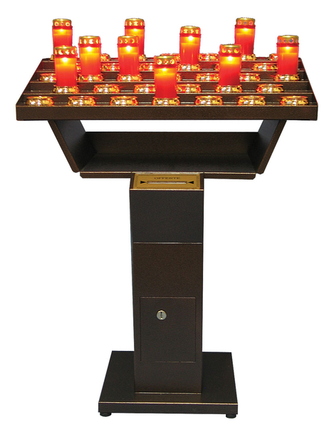 Electric Votive Light Stand with 21 Red Lights
