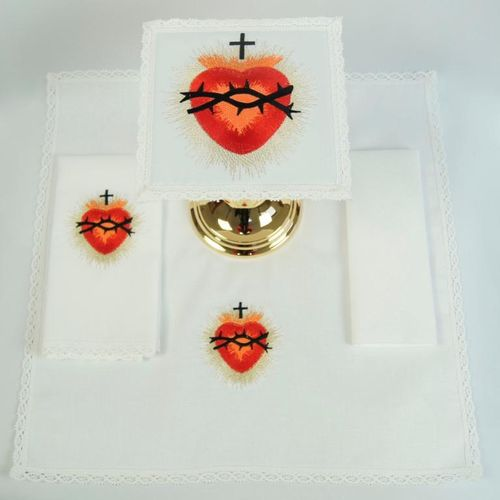 Small Linen - Sacred Heart with thorns