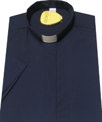 Navy Blue 'Easicare' Shirt