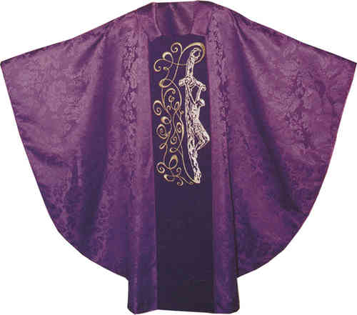 Damask Semi Gothic Chasuble - Passion