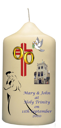 Personalised Wedding Candle (A2)