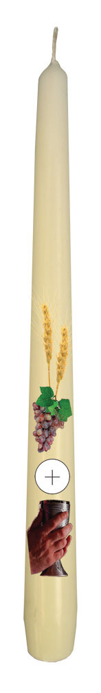 First Communion Tapered Candle - Individually Boxed