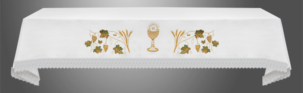 Altar Cloth with (Style I) Eucharistic Embroidery