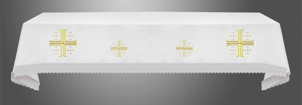 Altar Cloth with (Style II) Jerusalem Crosses