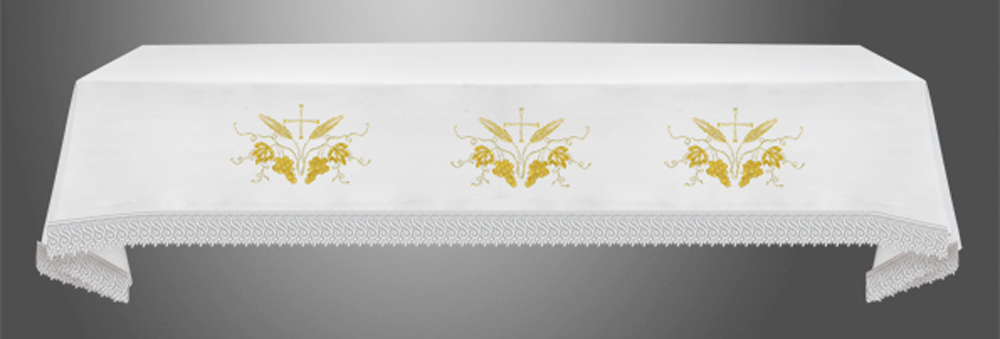Altar Cloth with (Style VII) Eucharistic Embroidery