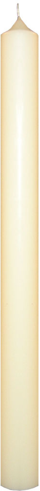 Altar-Paschal 25% Beeswax Candle 2.5ins x 24ins