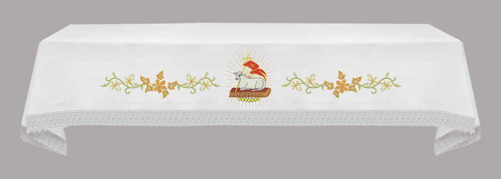 EASTER Altar Cloth with Agnus Dei & Book of 7 seals