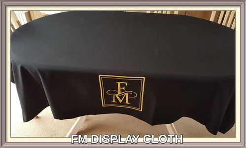 Black FM display Cloth w Gold Logo