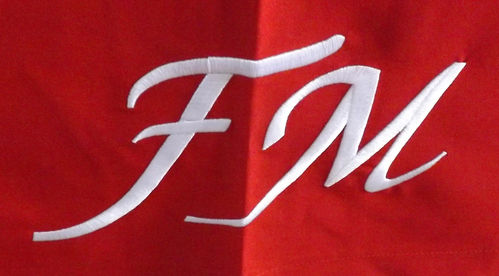 Red FM display Cloth w White FM