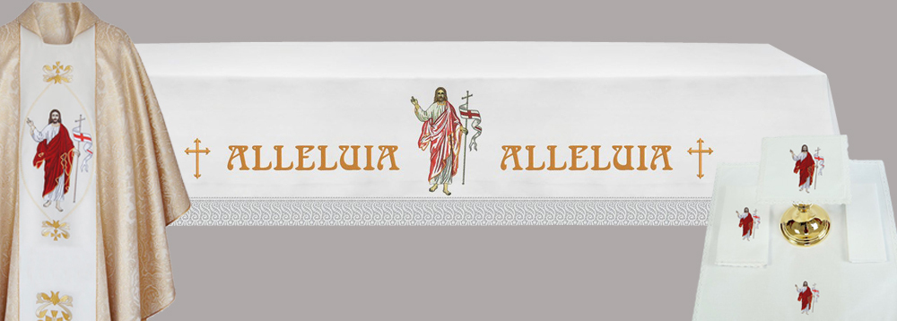 EASTER ALTAR SET with Cloth (Style EC3) and Chasuble and linens