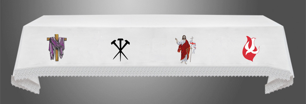 LENT CRUCIFIXION EASTER and PENTECOST Altar Cloth