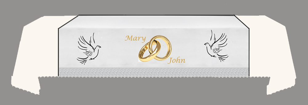 CUSTOMISED WEDDING Fall - Dove-Rings-Dove-NAMES