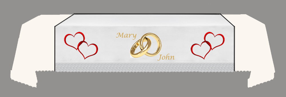CUSTOMISED WEDDING Fall -Hearts-Rings-Hearts-NAMES